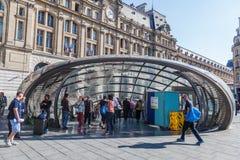 Metra wejście przy Gare St Lazare w Paryż, Francja Zdjęcie Stock