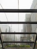 Metra wejście são Paulo na deszczowym dniu i chmurnym fotografia stock