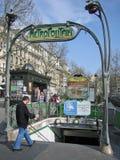 Metra wejście w Paryż Obrazy Royalty Free