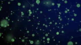 Metragem abstrata do fundo do átomo, animação ilustração royalty free