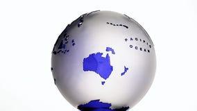 Metragem branca do hd do fundo do globo de vidro ilustração stock