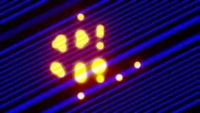 Metragem colorida de VJ, bolas de voo da textura do fundo filme
