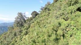 Metragem conservada em estoque aérea de montanhas Himalaias filme