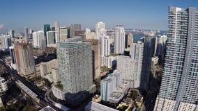 Metragem de Ariel de Brickell Miami vídeos de arquivo
