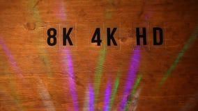 Metragem de madeira do hd da luz do disco do fundo da mesa ninguém filme