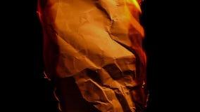 Metragem de papel velha do hd da chama do fogo da folha ninguém vídeos de arquivo