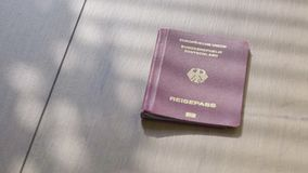 Metragem do conceito do fundo do passaporte do curso video estoque