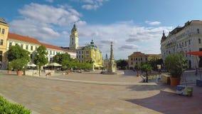 Metragem do lapso de tempo de uma cidade agradável famosa em Hungria sul, CPE vídeos de arquivo