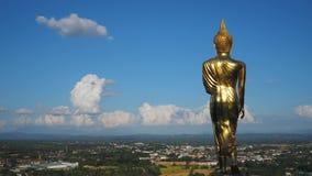 metragem do tempo-lapso 4K de Wat Phra That Kao Noi filme