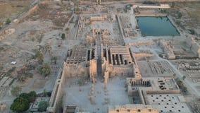 Metragem do zangão do templo de Karnak em Luxor, Egito filme