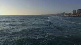 Metragem Odessa Ukraine do zangão do Mar Negro filme