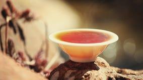 Metraggio cinese nero del fiume di funzionamento del tè archivi video