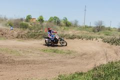 Metraggio dal campionato di motocross della molla fotografia stock