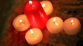 Metraggio del hd della candela nessuno stock footage