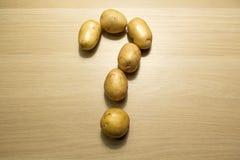 Metraggio del hd della tavola del punto interrogativo della patata immagini stock
