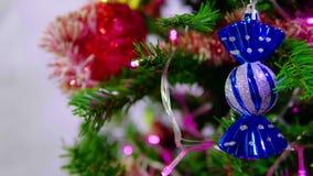 Metraggio dell'albero di abete per i chirstmas decorativi stock footage