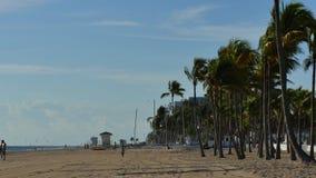 Metraggio delle azione della spiaggia del Fort Lauderdale archivi video