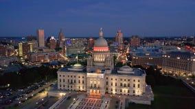 Metraggio di provvidenza, Rhode Island del fuco al crepuscolo, archivi video