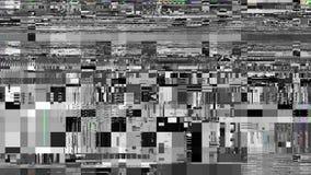 Metraggio video di ciclaggio di interferenza Imitazione di un video di Datamoshing stock footage
