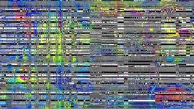 Metraggio video di ciclaggio di interferenza Imitazione di un video di Datamoshing video d archivio