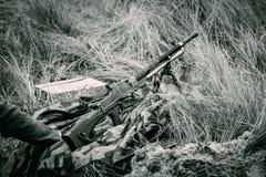 A metralhadora do exército alemão da produção checa de bl fotos de stock