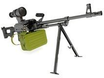 Metralhadora modernizada Kalashnikov com suspiro da noite Fotos de Stock