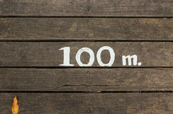 100 metri Fotografia Stock Libera da Diritti