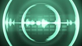 Metri del VU di musica e forme di onda 4K ciclo-capace senza cuciture illustrazione di stock