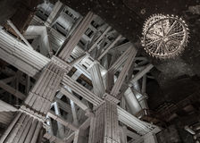 109 metri di camera sotterranea di Michalowice nella miniera di sale in W Fotografie Stock