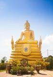 12 metri di grande immagine d'altezza di Buddha, fatta di 22 tonnellate di ottone in Phu Immagini Stock Libere da Diritti