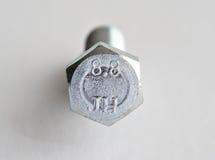 Metric Bolt. A photo of grade 8.8 metric bolt head Stock Photos
