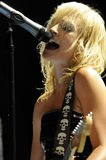Metric performing live. Royalty Free Stock Photo