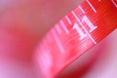 Metric red tape Stock Photo