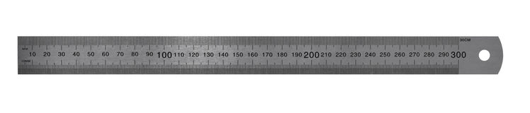 Metric Steel Ruler Royalty Free Stock Photo
