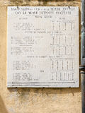Metric system old plaque in Campiglia Marittima, Tuscany, Italy Royalty Free Stock Photography