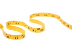 Metric tape. Metric measure tape focus on 15 Royalty Free Stock Photography