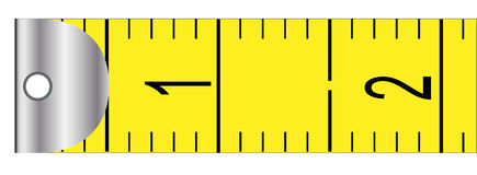 Metric Tape Measure. The first portion from a rag metric tape measure vector illustration