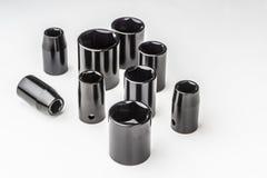 Metric Universal Socket Wrench, tools Set on white background.  stock image