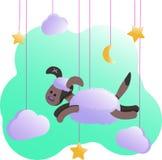 Metrisch met hond - affiches voor babyruimte, groetkaarten, jonge geitjes en babyt-shirts en slijtage, kinderdagverblijfillustrat royalty-vrije illustratie