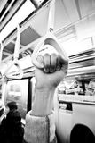 Metro à mão Imagens de Stock Royalty Free