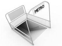Metro. Entrance in a city. Modern urban transport Stock Images