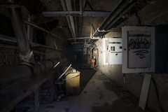 Metro abandonado fotografía de archivo