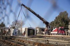 Metro accident Royalty Free Stock Image