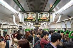 Metro aglomerado imagem de stock