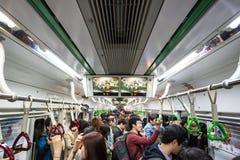 Metro aglomerado imagens de stock