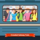 Metro aglomerado ilustração do vetor