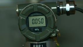 Metro alta tecnologia moderno di pressione di Digital del primo piano video d archivio
