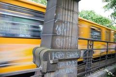 Metro amarelo Imagens de Stock Royalty Free