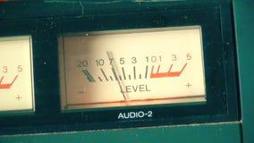 Metro análogo del Vu de una máquina de la grabadora del vintage almacen de video