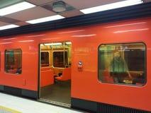 Metro anaranjado Fotografía de archivo libre de regalías